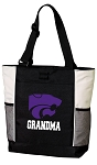 Kansas State Grandma Tote Bag White Accents