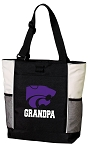 Kansas State Grandpa Tote Bag White Accents