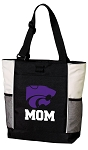 Kansas State Mom Tote Bag White Accents
