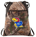University of Kansas RealTree Camo Cinch Pack