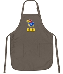 Official KU Dad Apron Tan