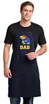 University of Kansas Dad Apron LARGE Navy