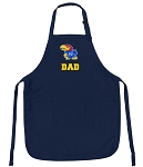 Official University of Kansas Dad Aprons Navy