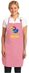 Deluxe University of Kansas Mom Apron Pink - MADE in the USA!