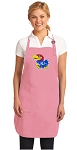Deluxe University of Kansas Apron Pink - MADE in the USA!