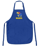 Deluxe KU Grandpa Apron University of Kansas Grandpa for Men or Women