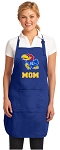 Deluxe KU Mom Apron University of Kansas Mom for Men or Women