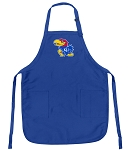 Deluxe KU Jayhawks Apron University of Kansas Logo for Men or Women