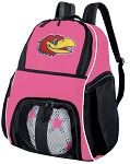 Girls University of Kansas Soccer Backpack or KU Jayhawks Volleyball Bag