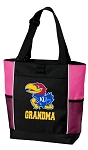 University of Kansas Grandma Tote Bag Pink