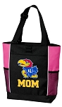 University of Kansas Mom Tote Bag Pink