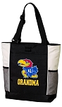 University of Kansas Grandma Tote Bag White Accents