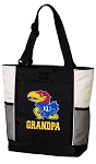 University of Kansas Grandpa Tote Bag White Accents