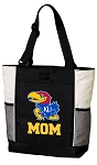 University of Kansas Mom Tote Bag White Accents