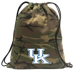 Kentucky Wildcats Drawstring Backpack Green Camo