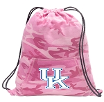 Kentucky Wildcats Drawstring Backpack Pink Camo