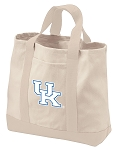 University of Kentucky Tote Bags NATURAL CANVAS