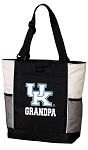 University of Kentucky Grandpa Tote Bag White Accents