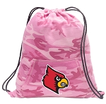 Louisville Cardinals Drawstring Backpack Pink Camo