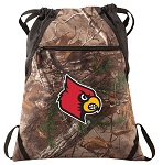Louisville Cardinals RealTree Camo Cinch Pack