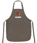 Official Louisville Cardinals Grandpa Apron Tan