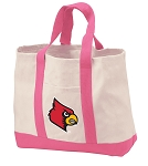 University of Louisville Tote Bags Pink