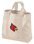 University of Louisville Tote Bags NATURAL CANVAS