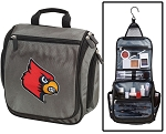 Louisville Cardinals Toiletry Bag or University of Louisville Shaving Kit Organizer for Him Gray