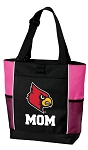University of Louisville Mom Tote Bag Pink