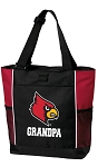 University of Louisville Grandpa Tote Bag Red