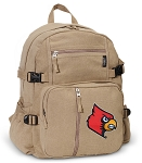Louisville Cardinals Canvas Backpack Tan
