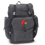 Louisville Cardinals LARGE Canvas Backpack Black
