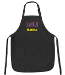 Official LSU Tigers Grandma Apron Black