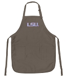 Official LSU Tigers Logo Apron Tan