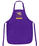 LSU Grandpa Apron Purple - MADE in the USA!