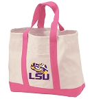 Broad Bay Jumbo LSU Tote Bag or Large Canvas LSU Shopping Bag