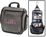 LSU Tigers Toiletry Bag or LSU Shaving Kit Organizer for Him Gray