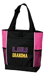 LSU Tigers Grandma Tote Bag Pink