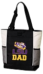 LSU Dad Tote Bag White Accents