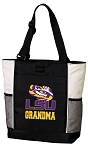 LSU Grandma Tote Bag White Accents
