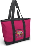 Deluxe Pink LSU Tigers Tote Bag