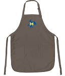Official McNeese State Cowboys Logo Apron Tan