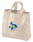 McNeese State Tote Bags NATURAL CANVAS