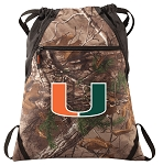 University of Miami RealTree Camo Cinch Pack