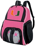 Girls University of Miami Soccer Backpack or Miami Hurricanes Volleyball Bag