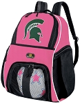 Girls Michigan State University Soccer Backpack or Michigan State Volleyball Bag
