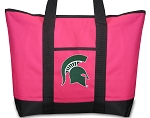 Deluxe Pink Michigan State University Tote Bag
