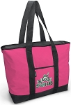 Deluxe Pink Michigan State University Peace Frog Tote Bag