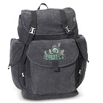 Michigan State Peace Frog LARGE Canvas Backpack Black