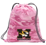 Mizzou Drawstring Backpack Pink Camo